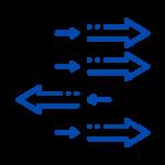 Element Pfeile individuelle Richtungen transparenter Hintergrund