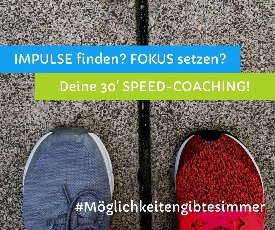 30 Minuten berufliches Speedcoaching für Impulse, Ideen und Entscheidungen in Job und Business